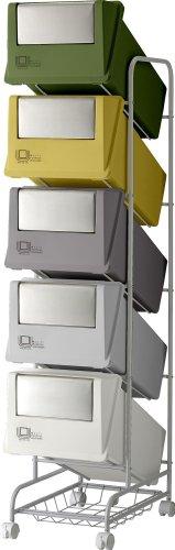 リス『分類ゴミ箱』 コンテナスタイル3 CS3-100S 100L MX4