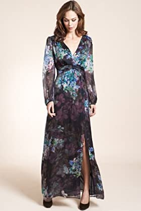 Autograph Exclusive Pure Silk Floral Maxi Dress