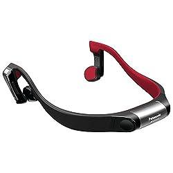 Panasonic RP-BTGS10-K Bluetooth Wireless Bone Conduction Headphones (Red)