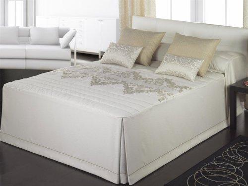 Colcha edredón jacquard Tiffany - cama 105 cm - Oro