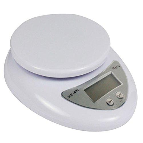 Tonsee® Nouveau 5 kg / 1g électronique numérique LCD Cuisine alimentaire postal pèse balance G, LB, OZ WH-B05