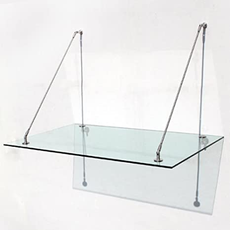 vordach haust r glas edelstahl 150 x 90 cm. Black Bedroom Furniture Sets. Home Design Ideas