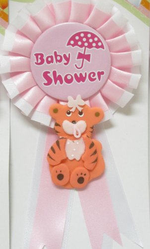 Baby Shower Tiger Baby Badge Jungle Safari Theme Corsage Mom To Be front-1072567