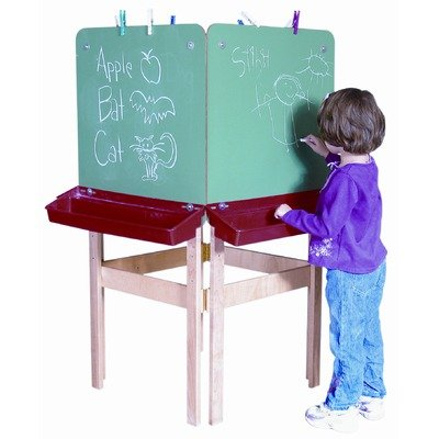 Four Side Easel in Tuff Gloss Drawing Surface: Chalk Board