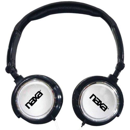 Naxa Electronics Ne-926Sv 2-In-1 Combo Super Bass Stereo Headphones And Earphones, Silver