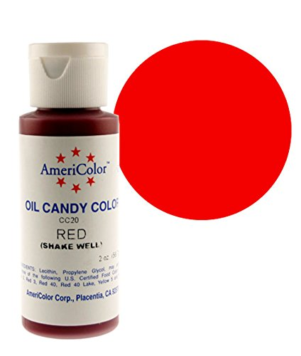 OIL CANDY COLOR - RED .65 Ounce Oil Candy Coloring
