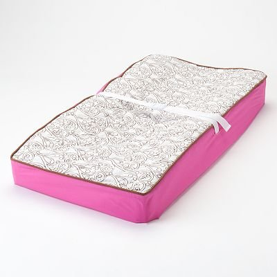 Damask Pink/Choco Changing Pad Cover