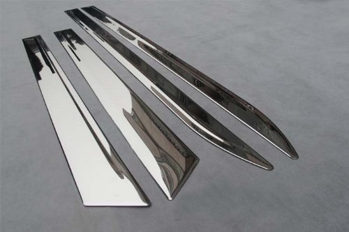 Auto Stainless Steel Body Door Side Molding Trim Chrome 4pcs fit for 2010 2011 2012 2013 Cadillac SRX