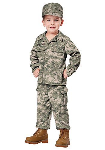 Little Boys' Soldier Costume Large (4-6) front-664825