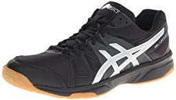 ASICS Men\'s Gel Upcourt Volley Ball Shoe,Black/Silver,12 M US