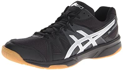 ASICS Men's Gel Upcourt Volley Ball Shoe,Black/Silver,10 M US