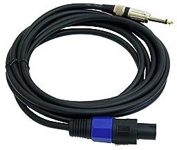 PYLE-PRO PPSJ15 - 15ft. 12 Gauge Professional Speaker Cable Speakon to 1/4\'\'