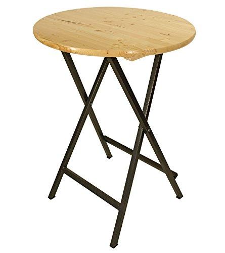 Stehtisch-ZRICH-78cm-rund-Stahlgestell-Holzplatte-klar-lackiert