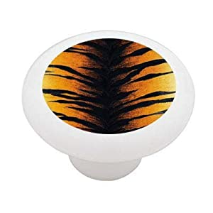 Tiger Stripe Ceramic Drawer Knob