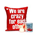 Love Mug with Ball Candle N Red Printed Cushion Gift for Valentine GIFTS110194 Romantic Valentine Gift,Valentine Gift for Him,Valentine Gift for Her,Valentine Gift for Boyfriend,Valentine Gift for Girlfriend,Valentine Gift for Husband,Valentine Gift for Wife