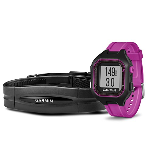 Garmin-Forerunner-25-Bundle-with-Heart-Rate-Monitor-Small-Black-and-Purple