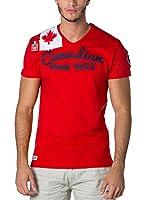 CANADIAN PEAK Camiseta Manga Corta Jailor (Rojo)