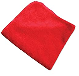 O'Cedar Commercial 96065 MaxiPlus Multi-Purpose Microfiber Cloth, Red (Pack of 12)