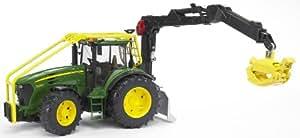 Bruder - 3053 - Véhicule Miniature - Tracteur Forestier John Deere 7930 avec Chargeur