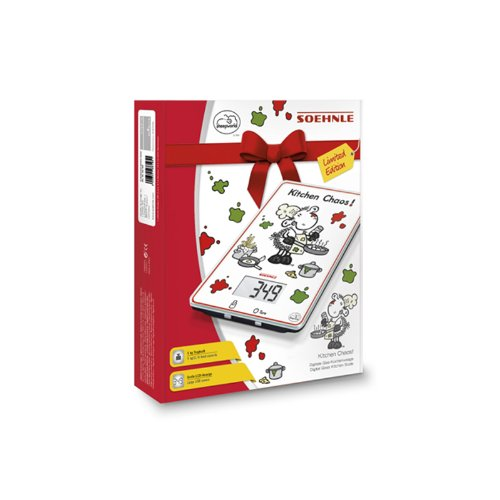 Soehnle 6208343 Balance Electronique Décors Humoristique Verre
