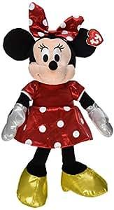 Ty Beanie Buddies Minnie Red Sparkle Medium Plush