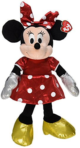 Ty Beanie Buddies Minnie Red Sparkle Medium Plush - 1