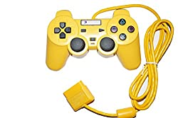 Digital Gaming World Wired Controller/Joystick For Sony PS2 (Yellow Color) Limited Edition