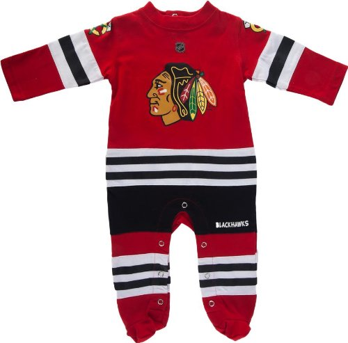 Chicago Blackhawks Jersey Onesie By Reebok Select Infant / Toddler / Youth Size: 0/3 Months front-1036605