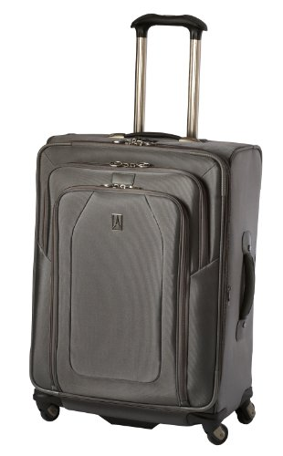 Travelpro Luggage Crew 9 25-Inch Expandable Suiter Spinner Bag, Titanium, One Size