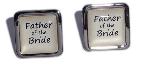 Father of the Bride Ivory Square Wedding Cufflinks.