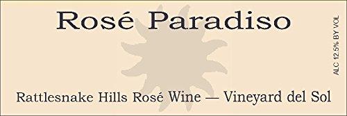 2012 Paradisos Del Sol Rosé Paradiso Rattlesnake Hills Estate Blend 750 Ml