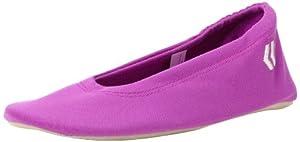 Isotoner Women's Indoor Ballet Flat Slipper, Bright Violet, LG