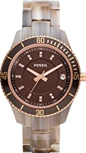 Fossil Damen-Armbanduhr Stella Analog Plastik ES3090