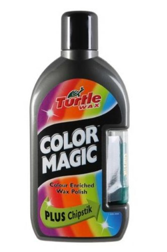 Turtle Wax Car/Van Colour Magic Color Enriched Wax Polish Plus Chipstick Dark Grey 500ml