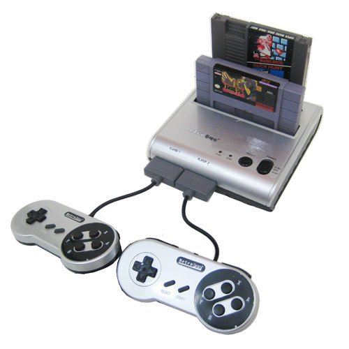 Retro-Bit Retro Duo Twin Video Game System NES & SNES Silver/Black