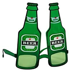 Funcart : Green Beer Bottle Sunglasses