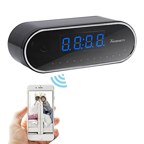 Great Features Of Toughsty™ 1280x720P HD Wifi Hidden Camera Clock Video Recorder Indoor Motion Act...