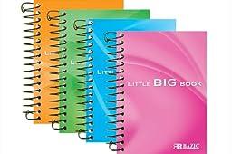 Premium Spiral Fat Book - 180 Ct. 4 Inch X 5.5 Inch (Pack of 6)