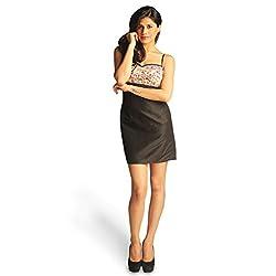 Idiotheory Women's Black Sleeveless Dress( ITWCCWSD05_XL )