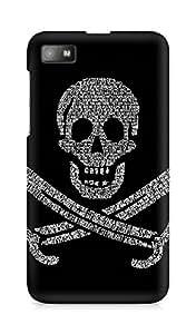 Amez designer printed 3d premium high quality back case cover for BlackBerry Z10 (Pirates Flag)