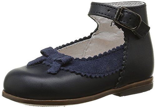 Little MaryOlyzzie - Scarpe primi passi Bimba 0-24 , Blu (Blu (Vachette Marine)), 23