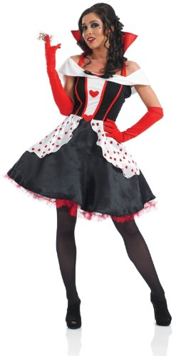 Ladies Queen Of Hearts Fancy Dress Costume Size 6-8 X-Small