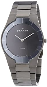 Skagen 585XLTMXM - Reloj de caballero de cuarzo (suizo), correa de titanio color gris