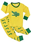 Crocodile Pajamas for Boys Sleepwear Cotton Kids 2 Piece Clothes Pants Sets