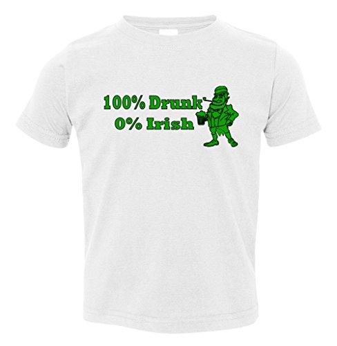 100% Drunk 0% Irish Funny Beer St. Patrick's Day Toddler T-Shirt