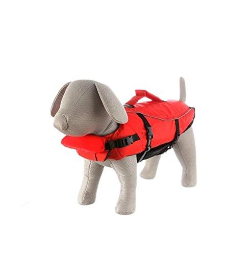 Artikelbild: Trixie 30143 Schwimmweste für Hunde, M 44 cm/max. 30 kg, rot / schwarz