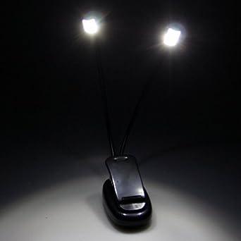 ganvol clip 4 led leselampe klemmleuchte klemmlampe buchlampe notenst nder lampe licht us170. Black Bedroom Furniture Sets. Home Design Ideas