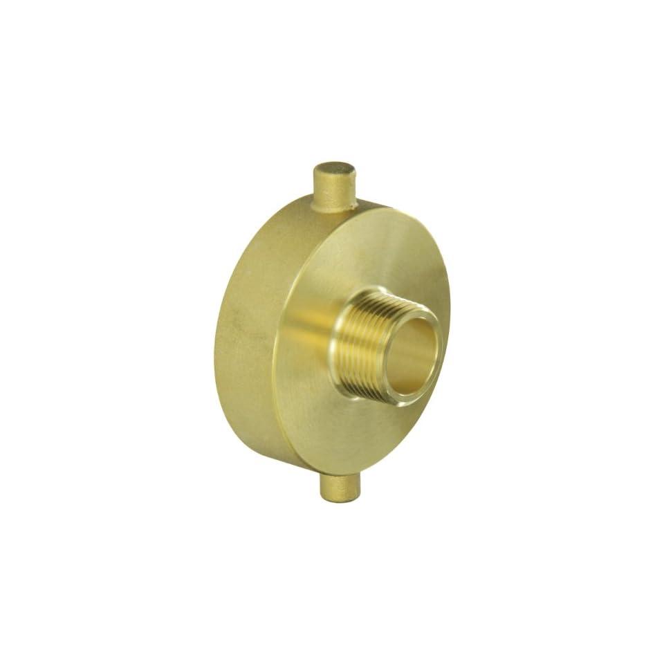 Moon 369 2521061 Brass Fire Hose Adapter, Pin Lug, 2 1/2 NH Female x 1 NPT Male