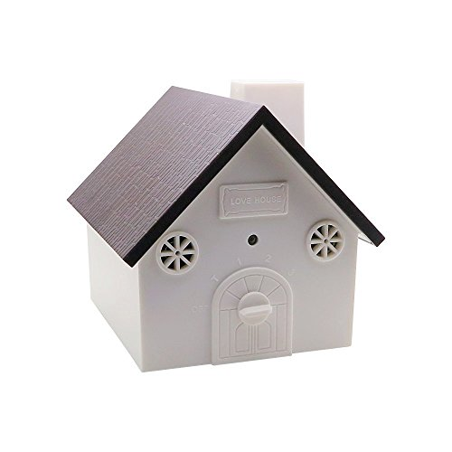 CY Outdoor Bark Controller Anti Dog Barking Control 9V Battery Powered in Newest Birdhouse Shape (Coffee) (Dog Outdoor compare prices)