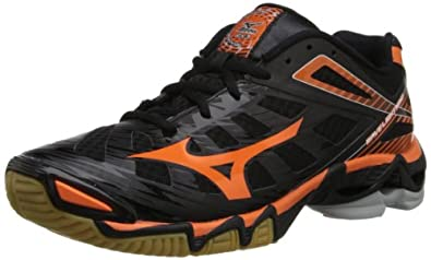 Mizuno Women's Wave Lightning RX3 Volley Ball Shoe,Black/Orange,6 M US